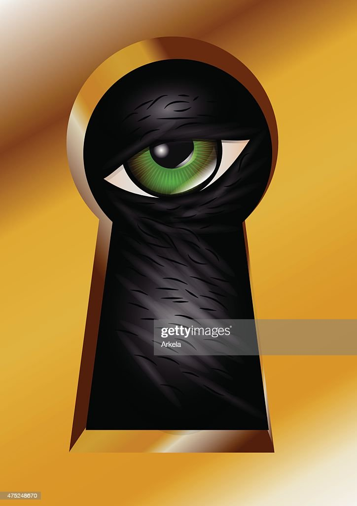 keyhole and eye