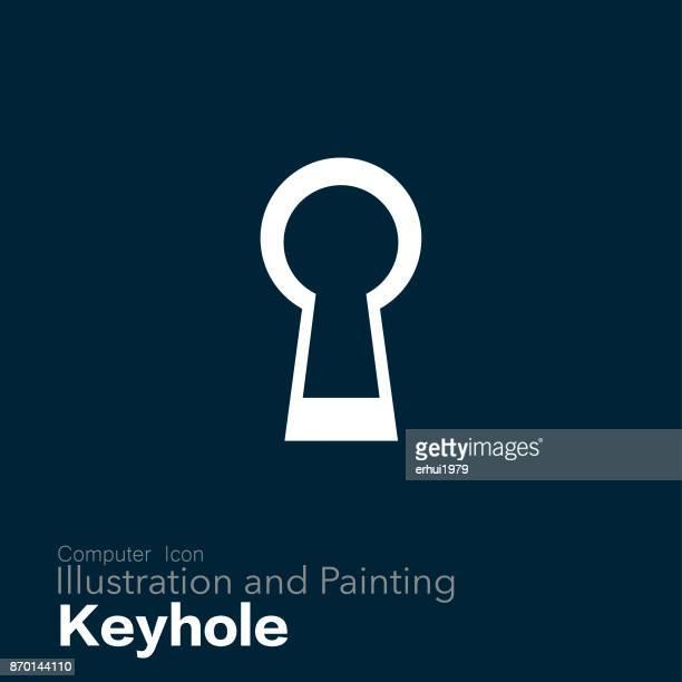 keyhole - unlocking stock illustrations