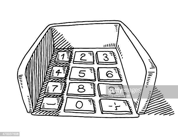 ATM Keypad Input PIN Drawing