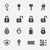 keys Lock vector icons