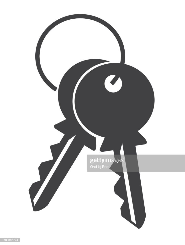 keys on white background