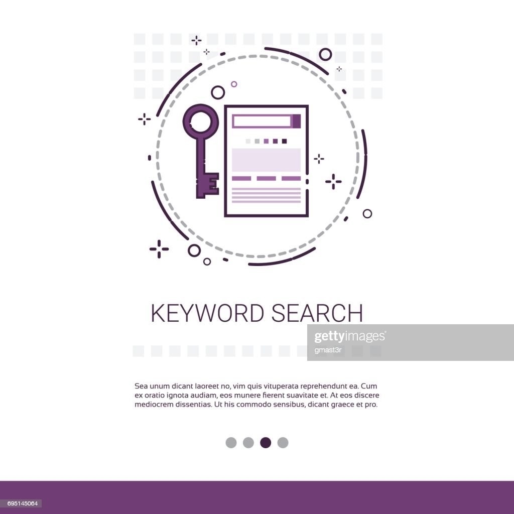 Keywording Search Web Optimization Banner With Copy Space
