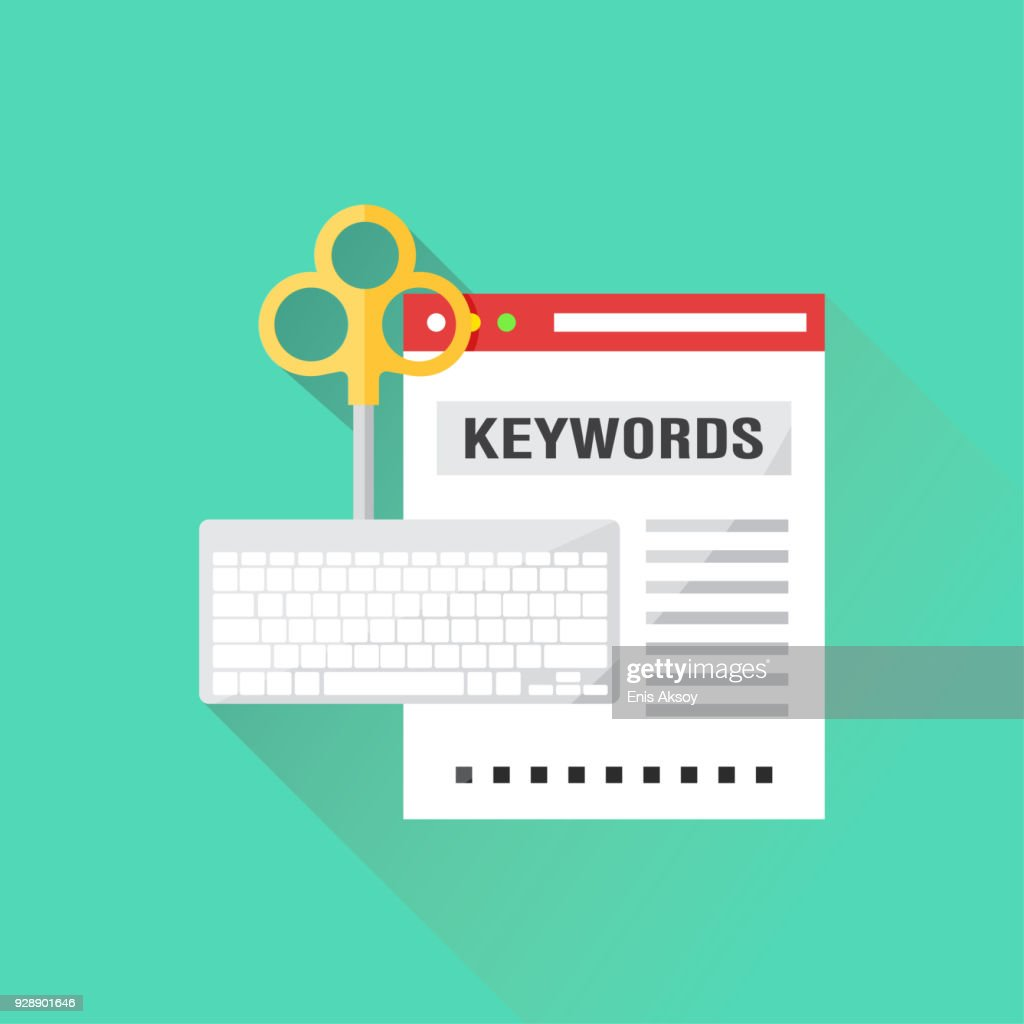 Keywords Flat Icon