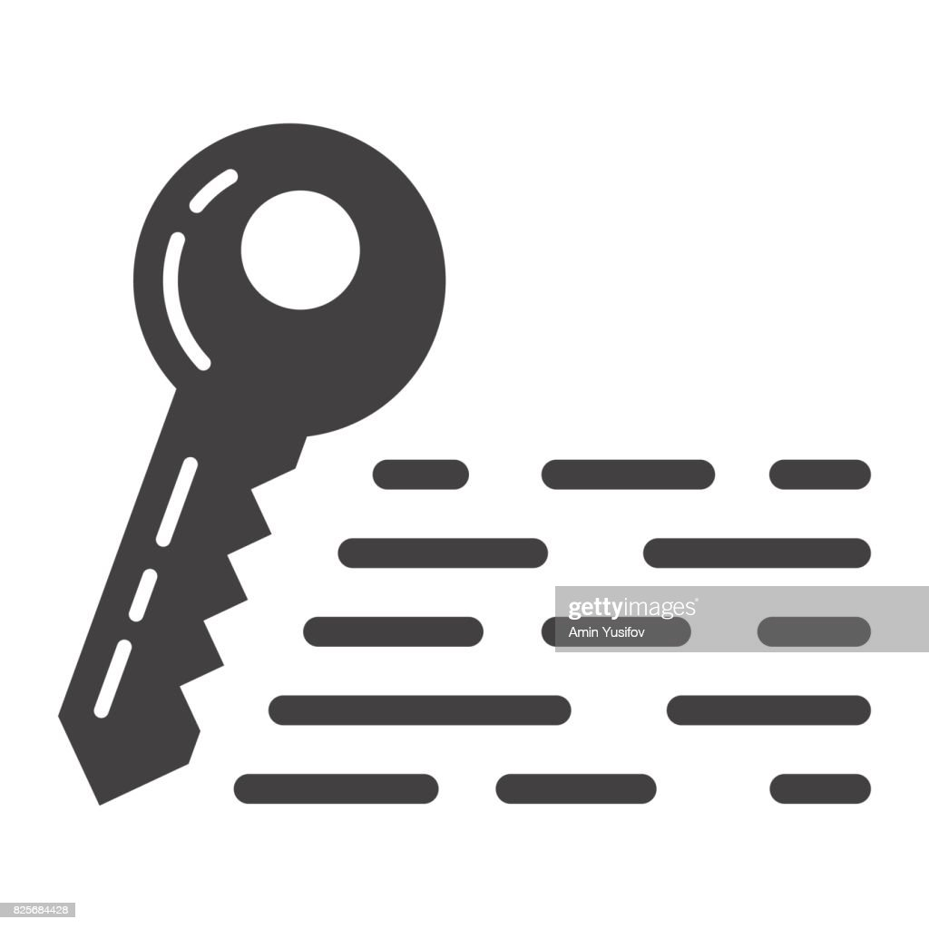 Keywords glyph icon, seo and development, key sign vector graphics, a solid pattern on a white background, eps 10.