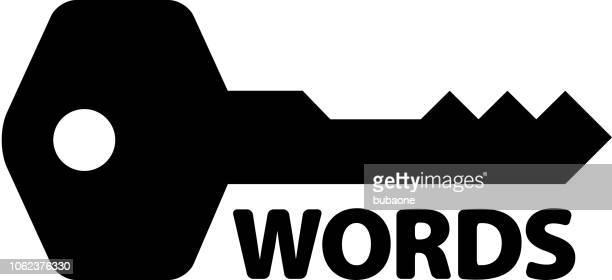 長い影が付いたキーワード アイコン - 辞書点のイラスト素材/クリップアート素材/マンガ素材/アイコン素材