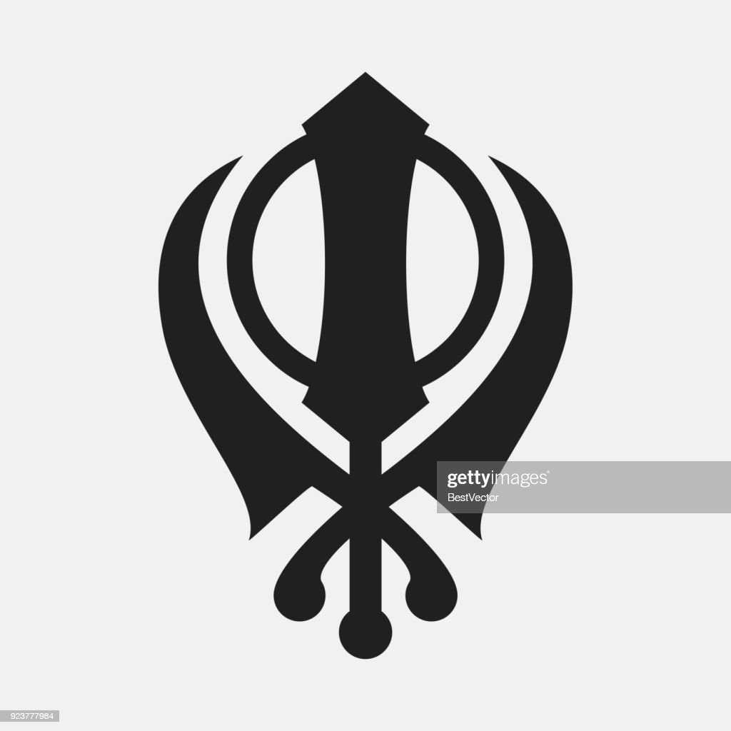 Khanda icon illustration