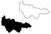 Khanty-Mansi Autonomous Okrug map vector