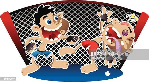 kick boxing - knockout stock illustrations, clip art, cartoons, & icons
