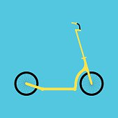 Kick scooter icon illustration in a flat style