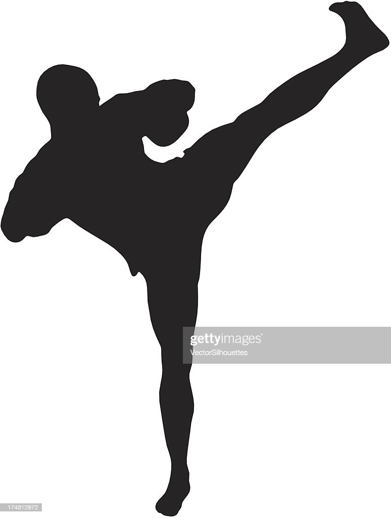 Kickboxing Silhouette