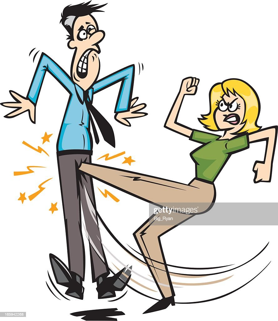 Woman Kicking Guy In The Nuts