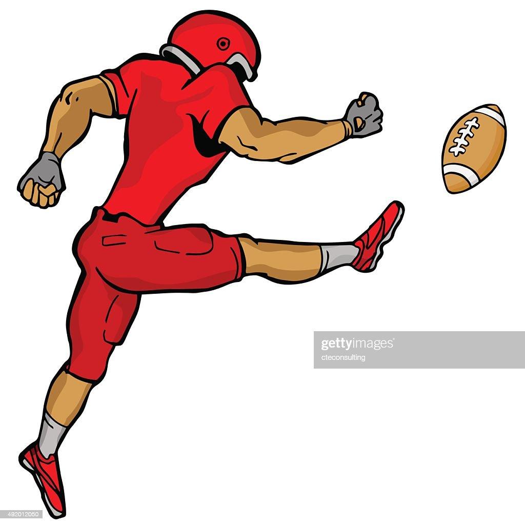 Kicking Football Player