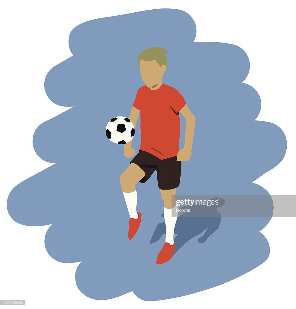 kicking the ball