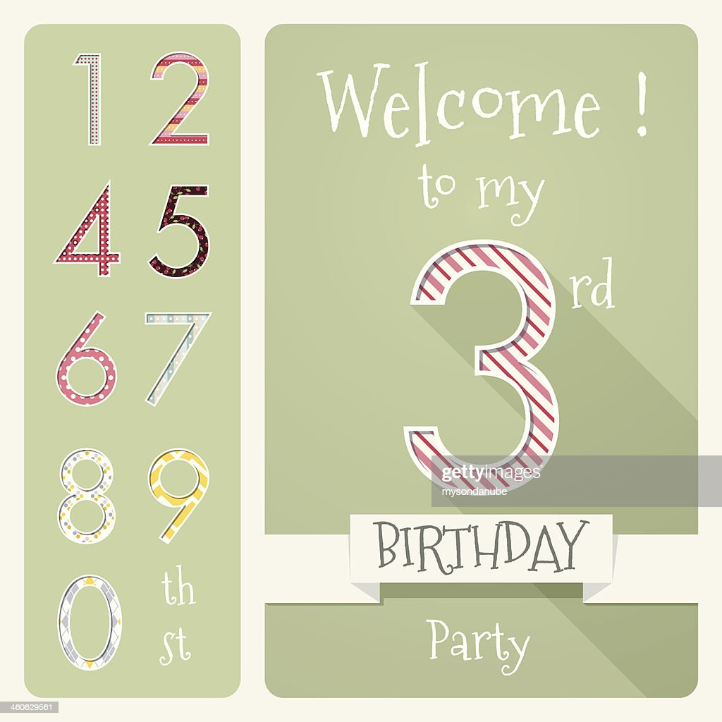 Kid birthday invitation card design vector illustration vector art kid birthday invitation card design vector illustration vector art stopboris Choice Image