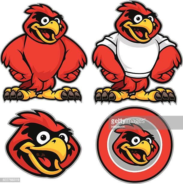 kid cardinal youth pack - cardinal bird stock illustrations, clip art, cartoons, & icons