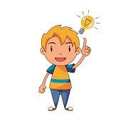 Kid having an idea