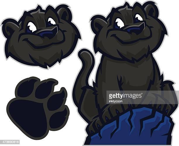 ilustraciones, imágenes clip art, dibujos animados e iconos de stock de kid panther - leopardo