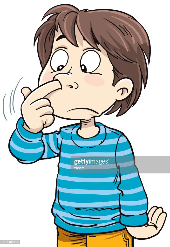 Kid Picks His Nose Vector Art | Getty Images