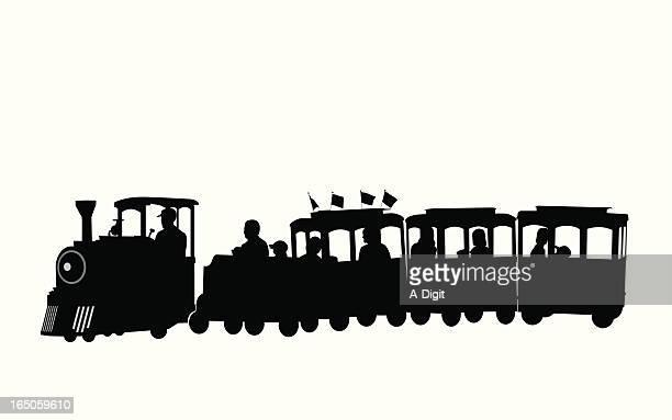 Kiddie Train Vector Silhouette