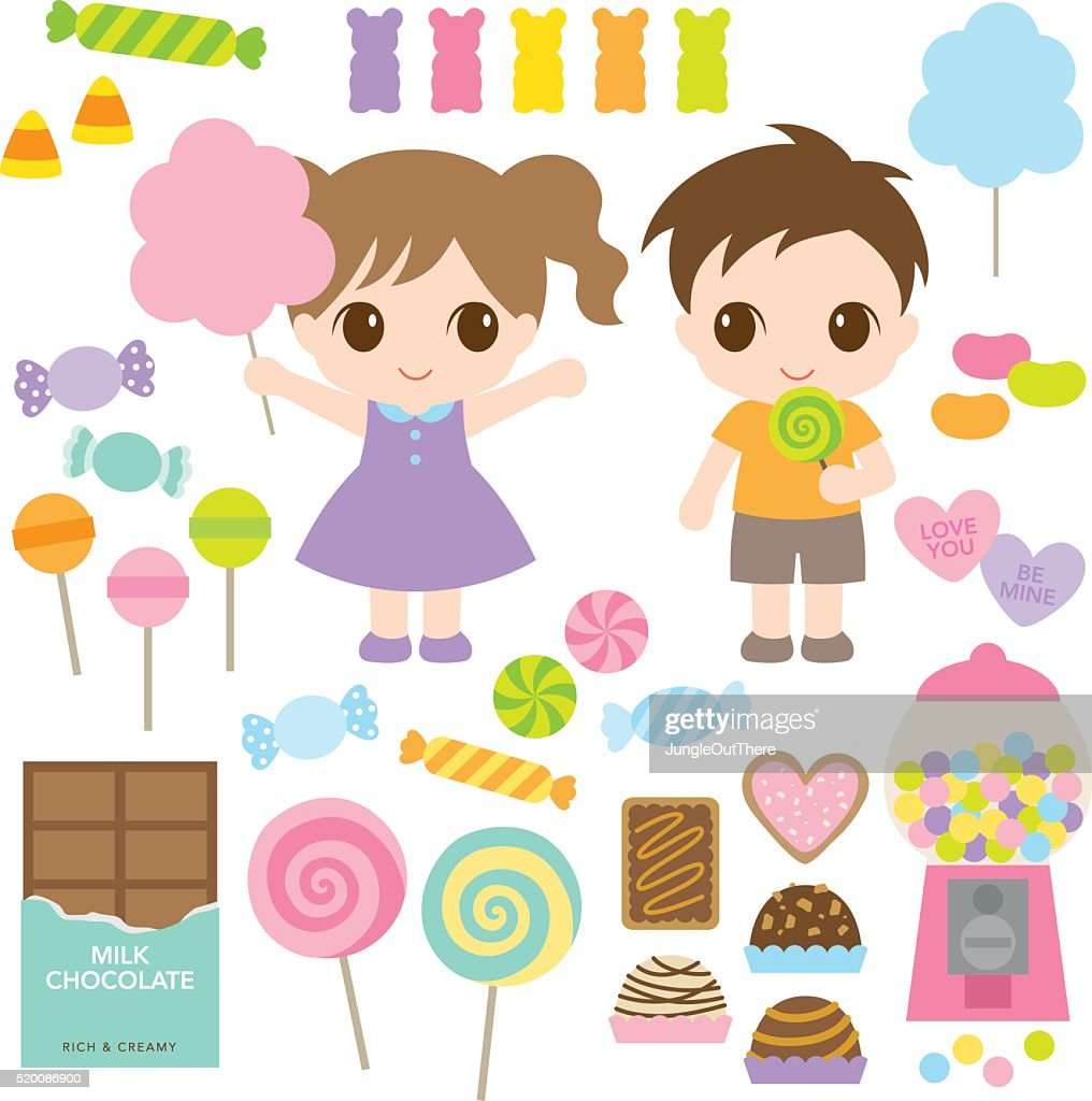 Kids and Sweet Candies