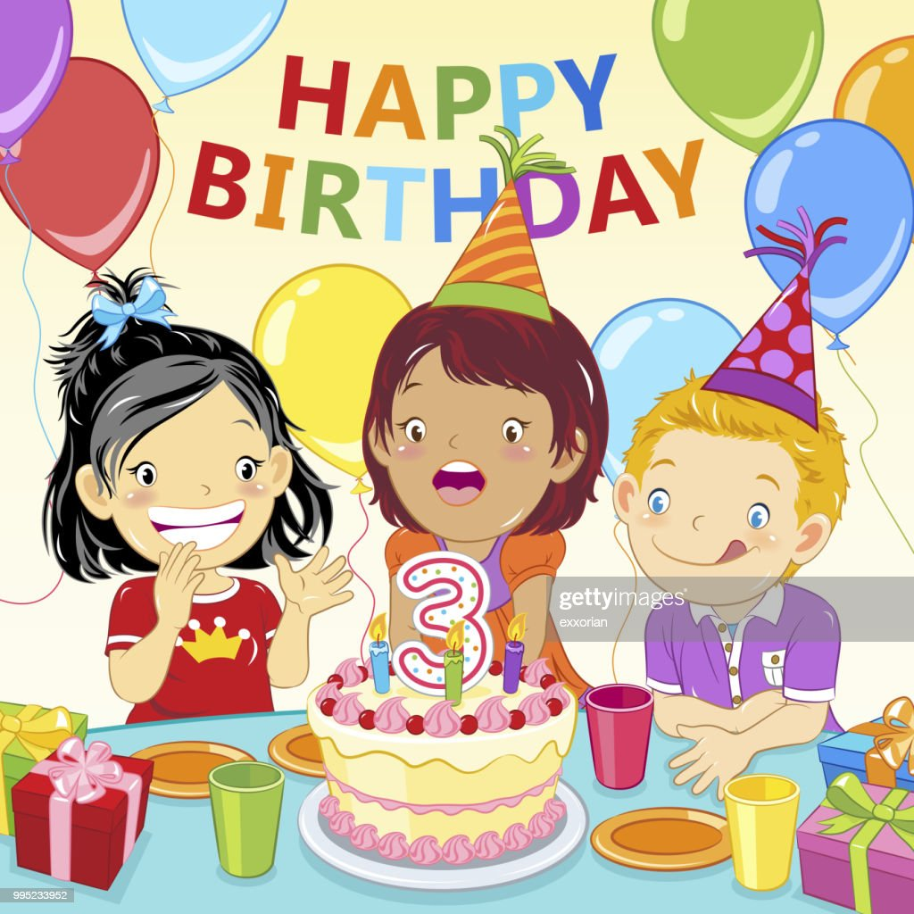 Prime Kids Birthday Party Invitation High Res Vector Graphic Getty Images Funny Birthday Cards Online Necthendildamsfinfo