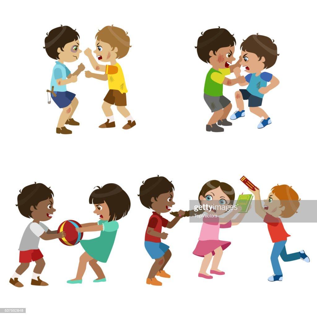 Kids Bullies Illustration