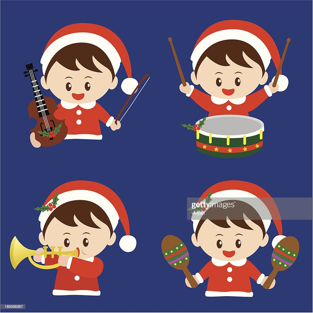 Kids Christmas Music Performance Vector Art | Getty Images
