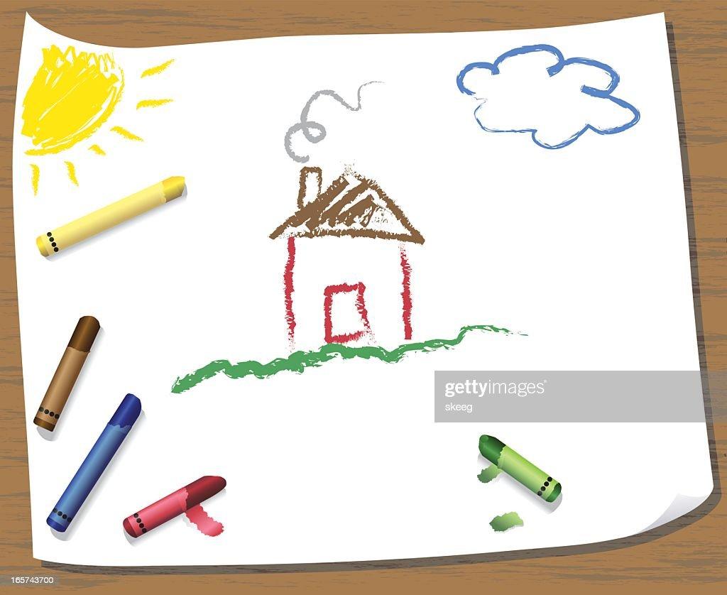 Kids Crayon Drawing