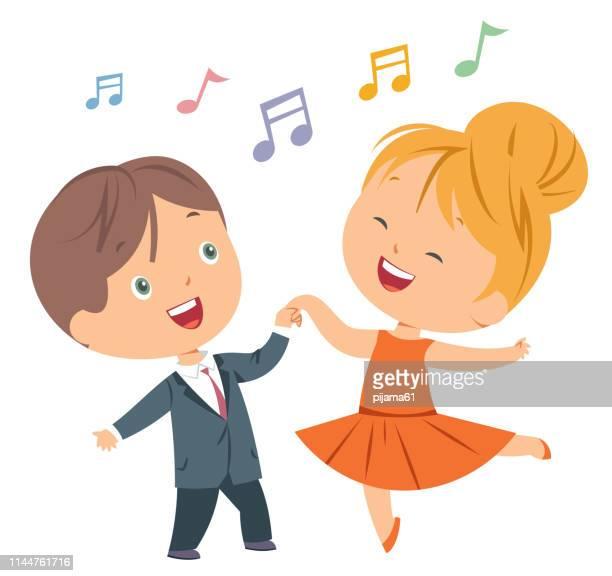 ilustraciones, imágenes clip art, dibujos animados e iconos de stock de los niños bailan - baile moderno
