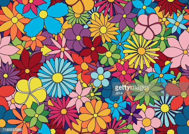 kids floral pattern - flower stock illustrations