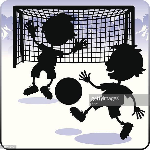 Kids' Football Goal Action Silhouette
