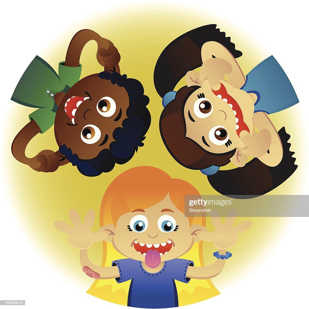 Kids Goofing Around : stock illustration