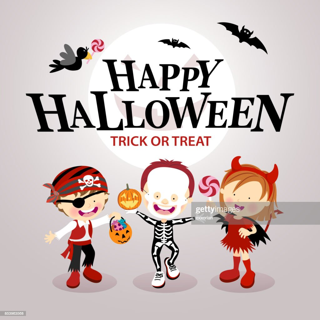 Kids Halloween Party Invitation : stock illustration