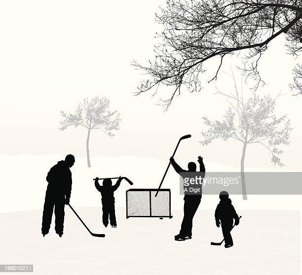 kids hockey - ice hockey stick stock illustrations