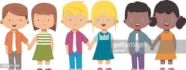 kids holding hand