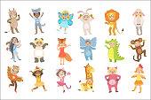 Kids In Animal Costumes Set