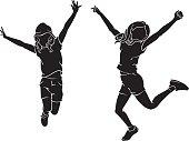 Kids Jubilant Leap