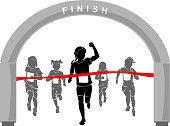 Kids Marathon Girl Winner
