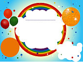 Kids party invite background