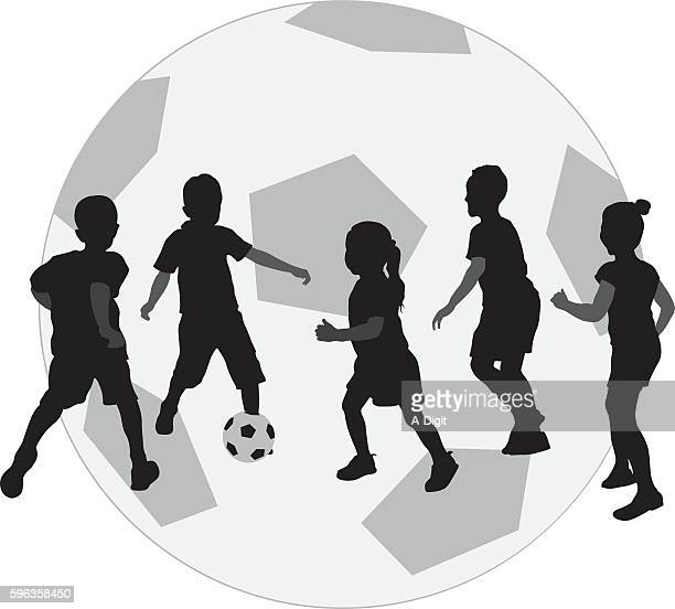 Kids Playing Football Icon