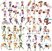 Kids playing various sports