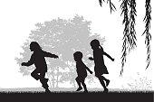 Kids Running Outdoors