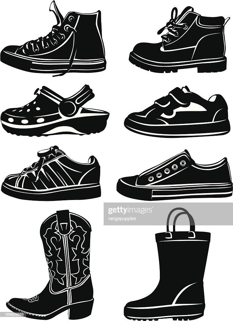 Kid's Shoes : Stock Illustration