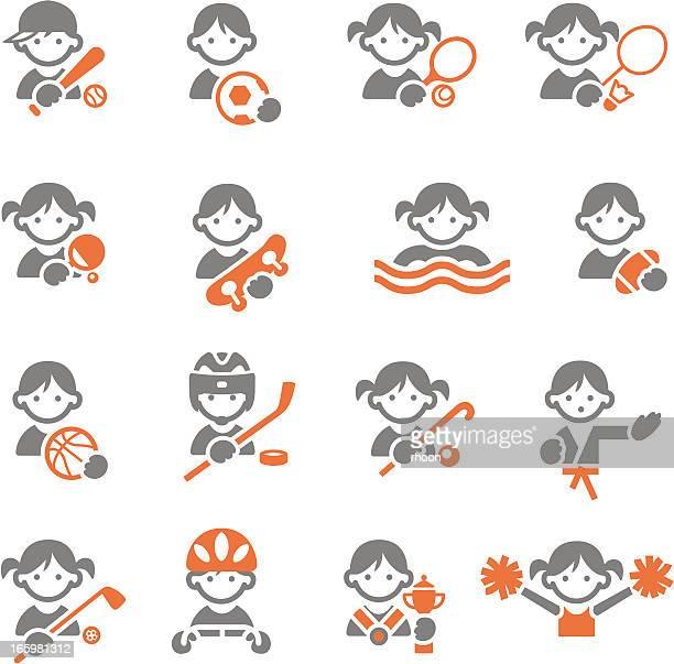 ilustraciones, imágenes clip art, dibujos animados e iconos de stock de iconos de deportes para niños - hockey sobre hierba