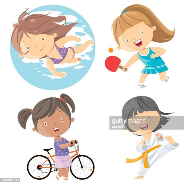 ilustrações de stock, clip art, desenhos animados e ícones de kids sports - judo