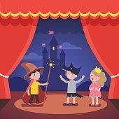 Kids theater performance show on scene