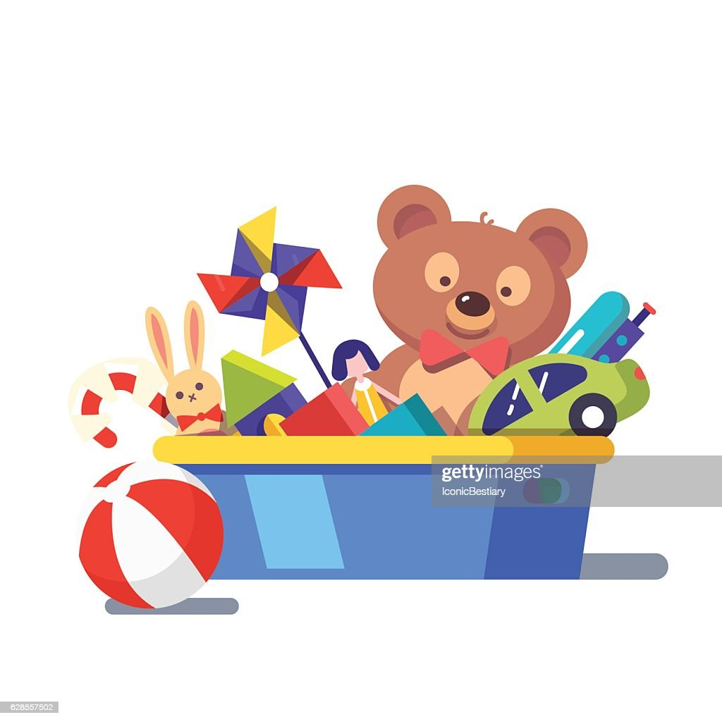 Kids toy box full of toys