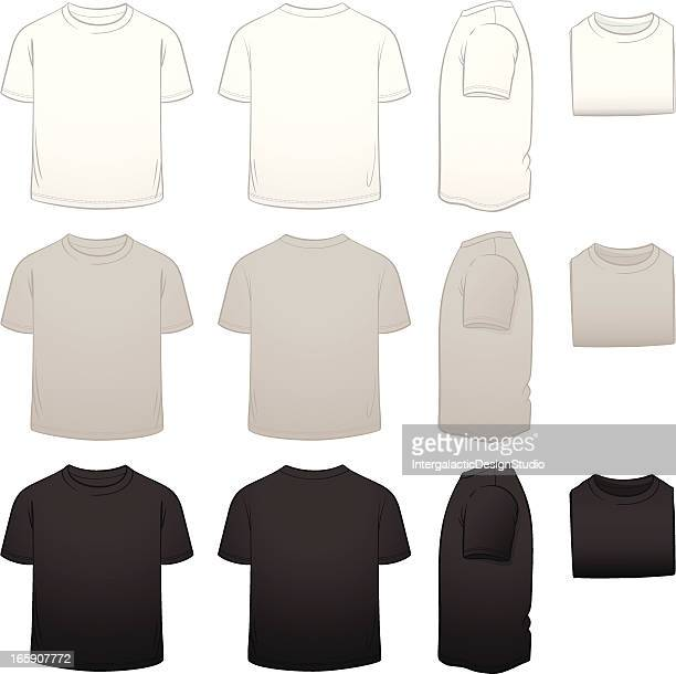 kids' t-shirt template package - t shirt stock illustrations, clip art, cartoons, & icons