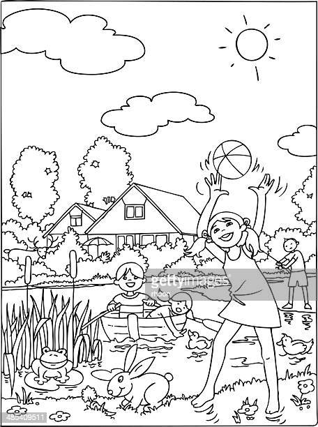Kids vacation coloring book