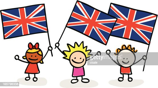 kids with uk flags vector art getty images black and white american flag vector art american flag vector clip art